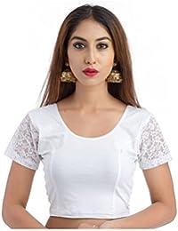 03a7679ec2 Fressia Fabrics Women s Stretchable Readymade Saree Blouse Crop Top Choli