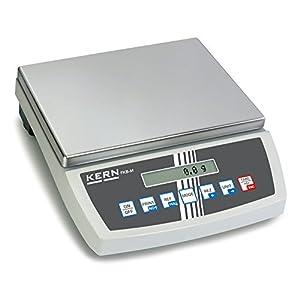 Tischwaage [Kern FKB 16K0.1] Große, hochauflösende Tischwaage, Wägebereich [Max]: 16 kg, Ablesbarkeit [d]: 0,1 g, Reproduzierbarkeit: 0,1 g, Linearität: 0,3 g, Kleinstes Teilegewicht [Zählen] g/Stück: 0,1 g, Wägeplatte: BxT 340×240 mm (Edelstahl)