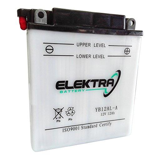 Batteria standard Elektra YB12AL-A 12 V 12 Ah 165 CCA acido incluso