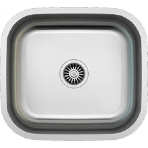 Edelstahl Kleine Spüle (Edelstahl Unterbau | MIRTO Sino Spüle 450 unterbau mit Siphon | Küchenspüle passend ab 50er Unterschrank | Edelstahlspüle Außenmaße 490mm x 440mm x 200mm |)