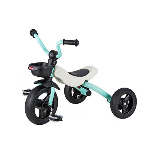 XXHDYR Kinder Dreirad Fahrrad 2-6 Jahre altes Baby Faltrad Kinderwagen, Rot, Orange, Rosa, Cyan 63x45x53cm Kinderwagen (Color : Blue)
