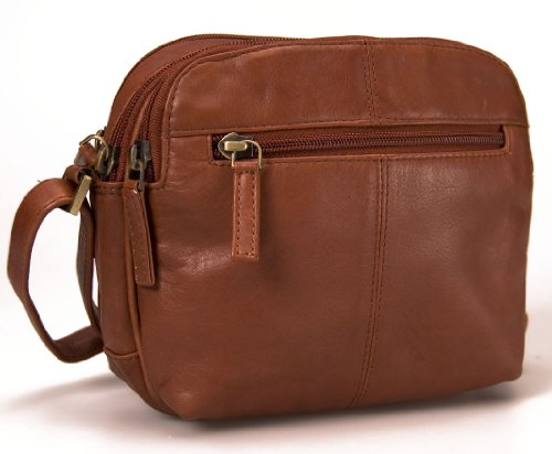 Visconti Petit sac avec lanière en cuir véritable # 18939