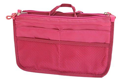NOV@GO® (version premium) Organiseur/Pochette/sac de rangement intérieur pour grand sac à main ou sac de voyage (Fuschia)