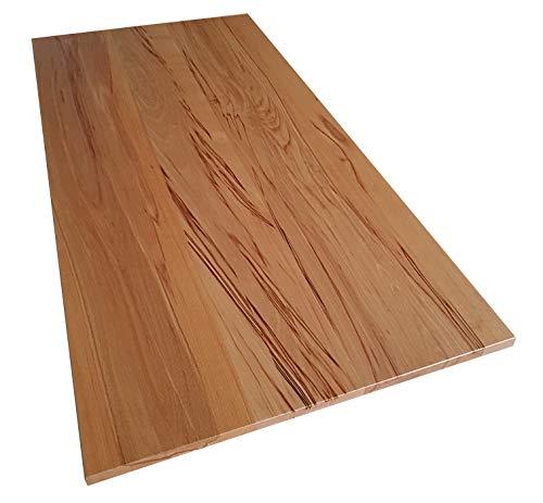 Tischplatte Holz massiv Kernbuche 25mm geölt oder unbehandelt, Esstisch Couchtisch (Holz unbehandelt, 70 x 60)