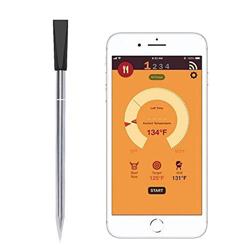 LaMei Yang Fleisch-Thermometer mit digitaler Sonde, kabelloses Küchen-Grill-Lebensmittelthermometer, Fleisch perfekt über Bluetooth und WLAN zubereiten - Funktioniert auf Allen Smartphones (Mikrowelle Dual Power)