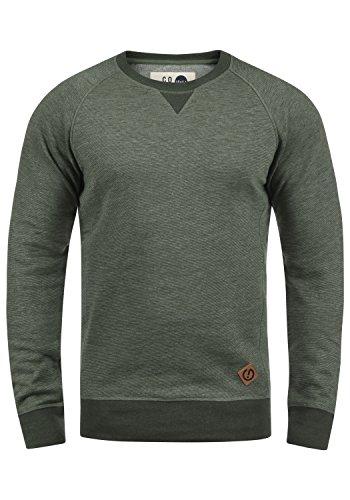 !Solid VituNeck Herren Sweatshirt Pullover Pulli Mit Rundhalsausschnitt, Größe:L, Farbe:Climb Ivy Melange (8785) -