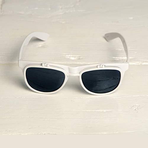 Freak Scene® Sonnenbrille mit Klappe M ° Kultbrille ° Klassiker Brille ° Farbe: weiß