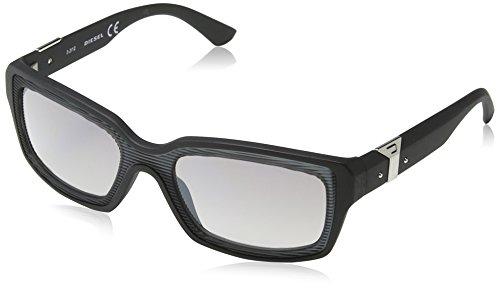 Diesel - Lunette de soleil DL0033 Wayfarer - Matt Black   Dark Grey    Silver Mirror c5c372eccb05