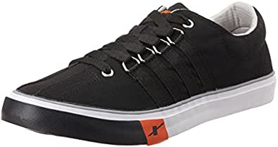 Sparx Men's Black Canvas Sneakers  - 6 UK