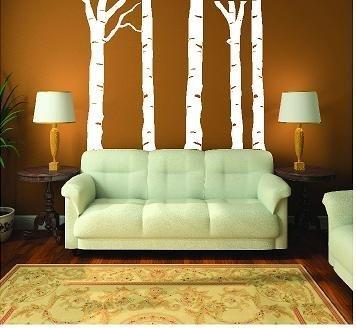 Birke Trunk (weiß) Baum Aufkleber Wand sagen Vinyl Schriftzug Home Decor Aufkleber Aufkleber Zitate (Vinyl-schriftzug Decor Home)