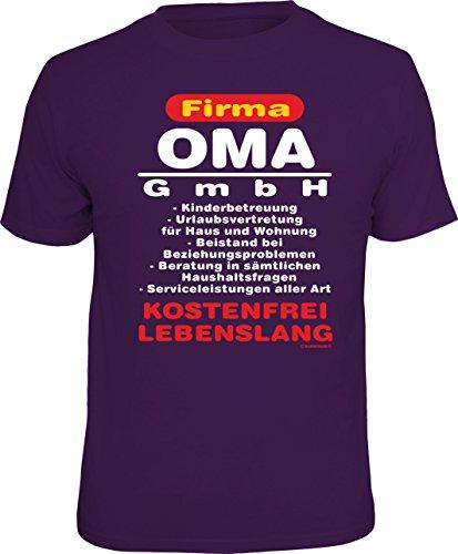 Das Geschenk-T-Shirt für die Großmutter: Firma Oma GmbH - Kinderbetreuung, Urlaubsvertretung, … kostenfrei, lebenslang Größe XL