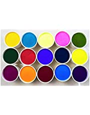 Vital Colors set of 10 premium quality different color Rangoli colors powder 100 grams in each packet