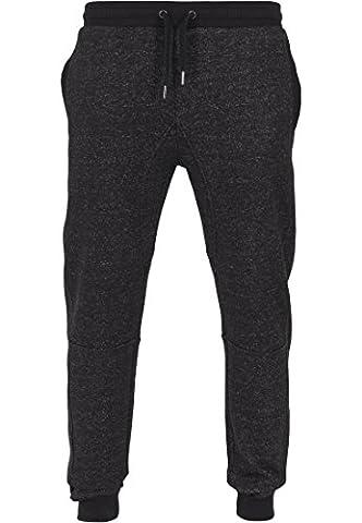Urban Classics Men's Hose Fitted Pixel Melange Sweatpants - Sports Trousers - Black (Charcoal), X-Large (Manufacturer size: