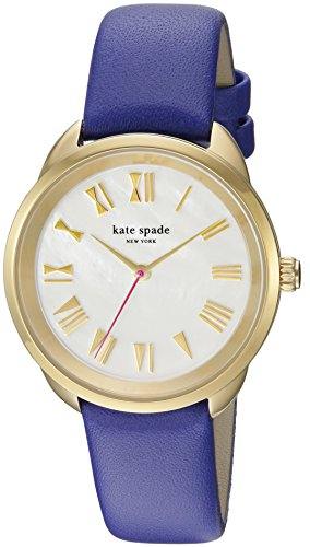 KATE SPADE WOMEN'S 34MM PURPLE LEATHER BAND STEEL CASE QUARTZ WATCH KSW1246