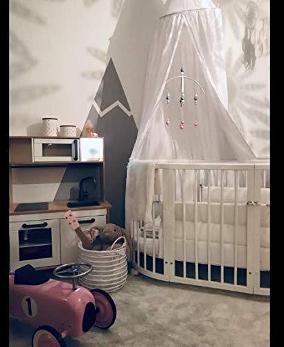 Tyhbelle Betthimmel für Kinder Babys Baumwolle Hängende Moskiton Höhe 230 cm Saumlänge 270cm (Weiß) - 7