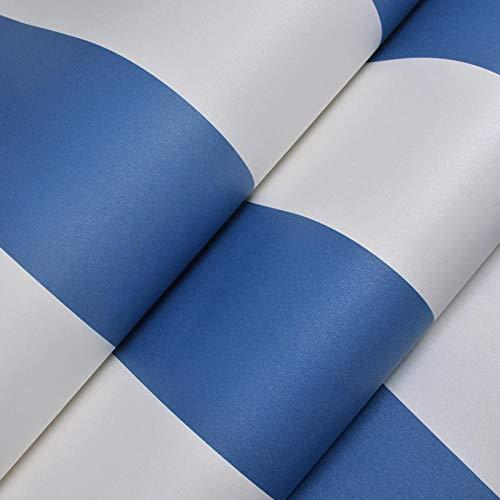 Mediterraner Stil Tapete modernen minimalistischen blauen und weißen vertikalen Streifen Kinderzimmer Tapete Jungen Schlafzimmer blau Vlies @ Royal blue_Wallpaper only - Royal Blau-tapeten
