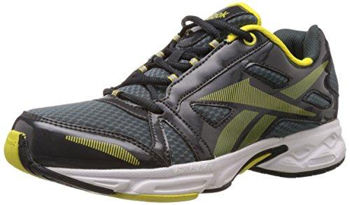Reebok Men's Run Start LP Gravel and Blazing Yellow Mesh Running Shoes - 6 UK