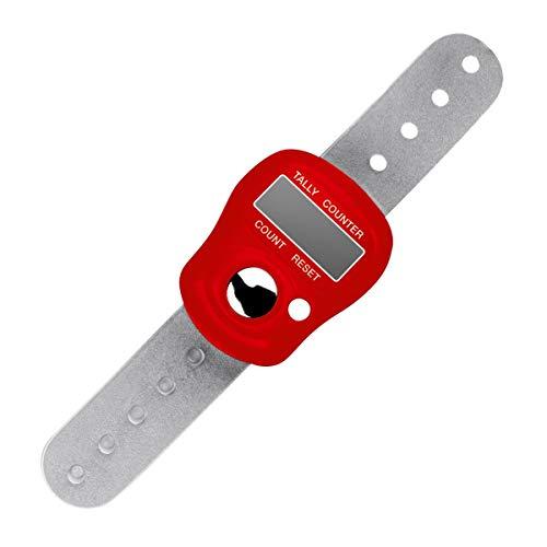 ADDI Elektronischer Zähler Reihenzähler, Kunststoff, rot 12 x 6 x 2 cm