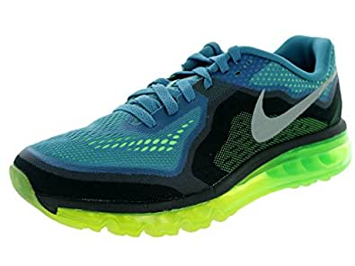 Nike Mens Air Max 2014 Running Shoes Reflect Blue/Reflect Silver/Flash Lime/Black 10 D(M) US