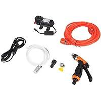 Moliies 12V elektrische Autowaschanlage Hochdruck-Autowaschpumpe Autowaschanlage Wasserpistole Englische Version für den häuslichen Gebrauch
