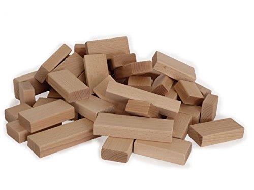 Große 43-teilig Bauklötze im Set Kinder-Holzbausteine aus Buchenholz 6056 | kreative Spielmöglichkeiten | massives Holz | handgefertigt, robust und stabil | viele...