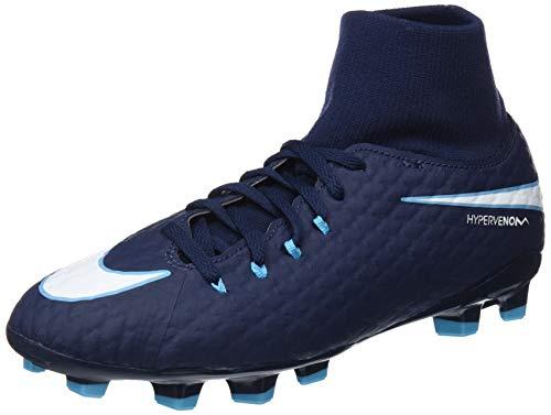 Nike Unisex-Erwachsene Hypervenom Phelon 3 DF FG JR 917772 414 Sneaker, Mehrfarbig (Indigo 001), 36.5 EU