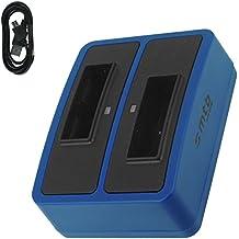 Cargador doble (Micro-USB, sin adaptores) para Sony NP-BX1 / Sony Action Cam HDR-AS10, AS15, AS20, AS30(V), AS100V, AS200V / FDR-X1000V... v. lista