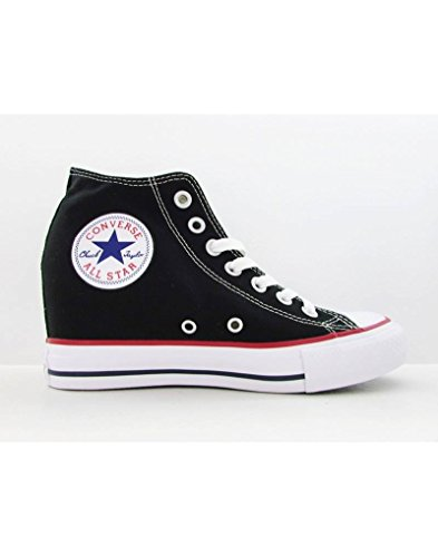 Converse Unisex - Adulto All Star Mid Lux Sneakers con zeppa nero Size: EU 38.5