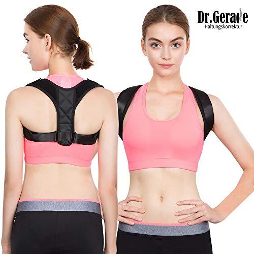 Dr. Gerade Medizinisch-orthopädischer Geradehalter Sitzhaltung Haltungstrainer zur Haltungskorrektur bessere Körperhaltung Rückentrainer für gerader Rücken für Damen Herren Kinder ab 14 Jahre