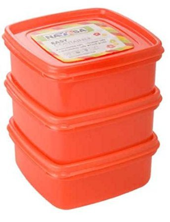 Nayasa Easy Funk 12 Plastic Container Set, 650 ML, (Set of 3)  available at amazon for Rs.138