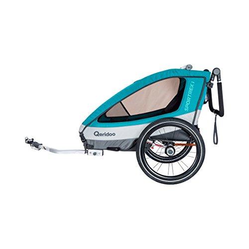 QERIDOO Fahrradanhänger Sportrex1 Design 2018 blau OneSize - 2