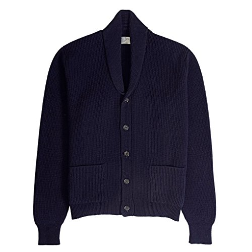 Genuine Scottish KnitsHerren Strickjacke Blau - Navy