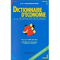 DICTIONNAIRE D'ECONOMIE ET DE SCIENCES SOCIALES. 4ème édition