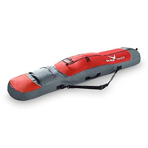 Black crevice 151003 - snow snowboard borsa, rosso/grigio, 167 x 30 x 17 cm, 85 litri