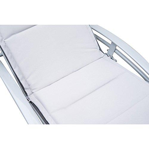 Outsunny Sonnenliege Gartenliege Gartenstuhl Relaxsessel Liegestuhl Aluminium, grau - 5
