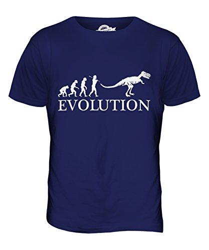 CandyMix Tyrannosaurus Rex T-Rex Evolution Des Menschen Herren T Shirt Navy Blau