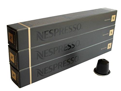 Nespresso Capsulas negra negro - 30x Ristretto - Original Nestlé - Espresso cafe - Surtido