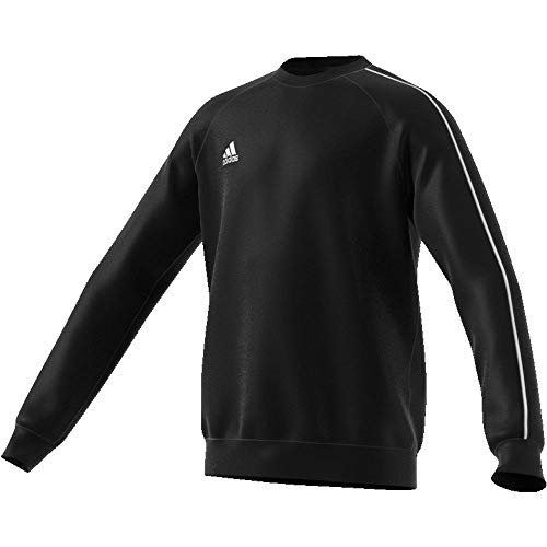 adidas Kinder CORE18 SW TOP Y Sweatshirt, Black/White, 13-14Y Adidas Sweatshirt