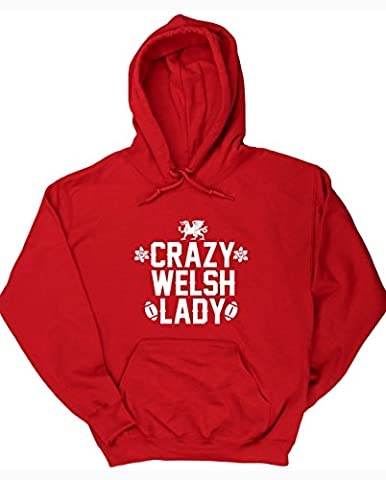 HippoWarehouse Crazy Welsh lady unisex Hoodie hooded