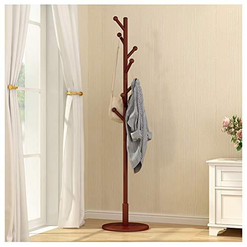 Weibing-0 appendiabiti stand stand bamboo stand a forma di albero di visualizzazione stand e piedi solidi per abiti sciarpe e cappelli appendiabiti e appendini (colore : brown)