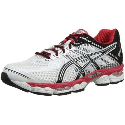 Asics GEL Cumulus 15 - Zapatillas de running para hombre, color rojo / blanco / amarillo, Blanco,