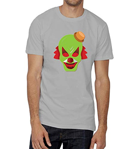 Halloween Scary Clowns Monsters_006240 T-Shirt Birthday Ugly Christmas Shirt Gift for Him MD Man Grey