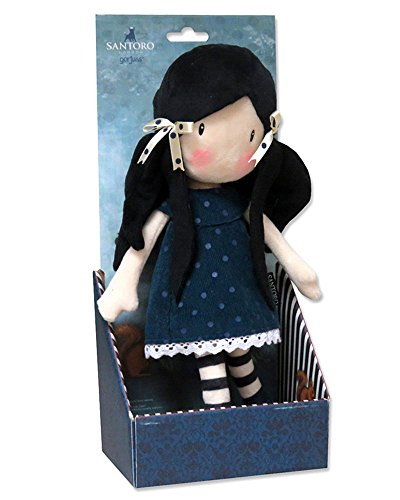 Gorjuss M-02-G Muñeca de Trapo en Display - You Brought Me Love, 30 cm