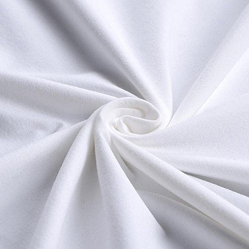 DOLDOA Frauen Plus Size Printing Tees Shirt Kurzarm T-Shirt Bluse,Weiß C