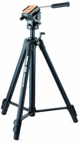 Velbon Videomate-638 Video Dreibein-Stativ (Höhe 171 cm) schwarz - Fluidkopf Video-stativ