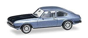Herpa 038508 Ford Capri RS, eisblaumetallic / Schwarz