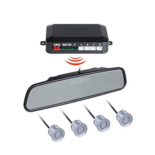 BINODA Auto Parksensoren mit 4 Sensor Auto Backup Reverse Radar Rearview Monitor Sound Alarm Set Sensor (Color : Gray) (Reverse-led-sensor Grau)