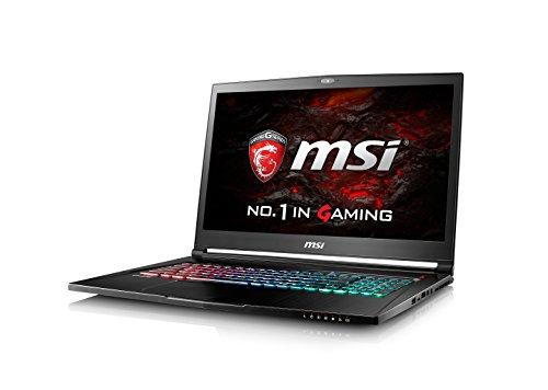 MSI GS73VR 7RF (Stealth Pro) 208UK 17.3 Inch Gaming Laptop (Black) - (Kabylake Core i7-7700HQ, 16 GB RAM, 256GB SSD, 2TB HDD, GTX 1060, Windows 10)