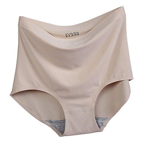 Eastlion 5 Pack Damen Shapewear High Taille Nahtlose Slips Schlüpfer Unterwäsche, One Size Aprikose