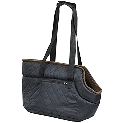 Me and My Pets Black Quilted Carrier 3